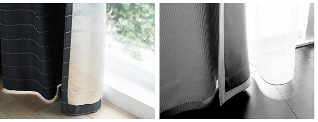 裏地付きカーテンで断熱する方法