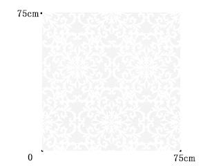 【ゴシック+モダン】ダマスク柄のオパールプリントのレースカーテン&シェード【RX-9045】ホワイト