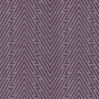 【ミッドセンチュリー】ミックス感のあるシェプロン柄のドレープカーテン&シェード【SC-0090】バイオレット