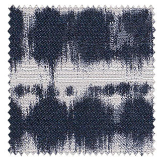 【北欧モダン】ドットの絞り染め柄の遮光カーテン&シェード【SC-0472】ネイビー&ライトグレー