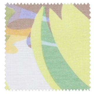 【北欧モダン】ボタニカル柄のプリントのレースカーテン&シェード【SC-0705】グリーン