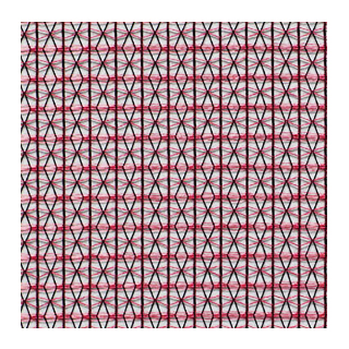 【シンプル モダン】スタイリッシュな幾何学織のレースカーテン&シェード【SC-0709】レッド