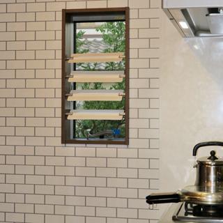 【水回りの小窓用ブラインド】プラスチック製ブラインド【ツッパルーバ】つっぱりブラインド