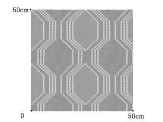 【ミッドセンチュリー】シックな幾何学柄のドレープカーテン&シェード【UX-5009】ライトグレー