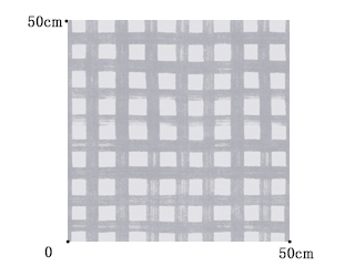 【北欧モダン】チェックのビンテージ・プリントのドレープカーテン&シェード【UX-5154】ライトグレー