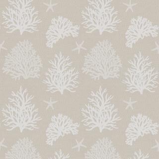 【シャビー シック】珊瑚(サンゴ)柄のドレープカーテン&シェード【UX-5160】ベージュ
