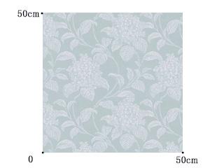 【フレンチ シック】紫陽花(アジサイ)の繊細な織柄のドレープカーテン&シェード【UX-5288】ライトブルー