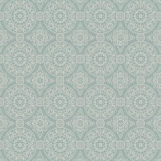 【クラシック モダン】モロッコタイルのクラシック文様のドレープカーテン&シェード【UX-5361】ブルーグリーン