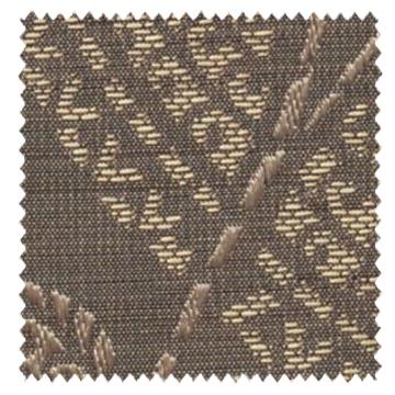 【クラシック モダン】ゴールドのクラシック柄のドレープカーテン&シェード【UX-5374】ブラウン