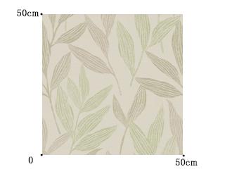 【和モダン】伸びやかに育む葉柄のドレープカーテン&シェード【UX-5414】グリーン