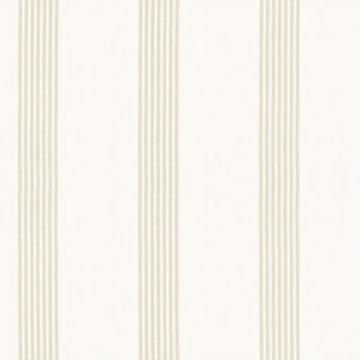 【ナチュラル】リネン調のストライプ・レースカーテン【UX-5615】ベージュ&アイボリー
