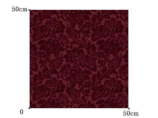 【ゴシック*モダン】ベルベットのエンボス加工のドレープカーテン【UX-8015】ダークレッド
