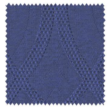 【ミッドセンチュリー】モダンな織の幾何学柄ドレープカーテン【UX-8057】ロイヤルブルー