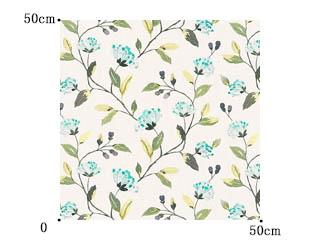 【フレンチ カントリー】鮮やかな花の刺繍のドレープカーテン【UX-8112】ブルー