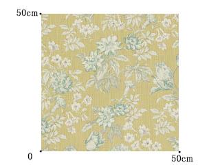【フレンチカントリー】花柄のビンテージ・プリントのドレープカーテン【UX-8113】ビンテージイエロー