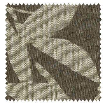 【和モダン】揺らぎの笹の葉柄のドレープカーテン【UX-8184】オリーブドラブ