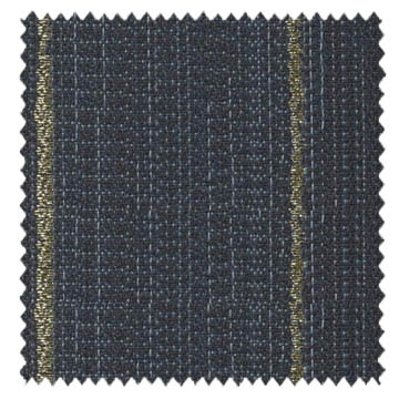 【和モダン】金継ぎ柄のドレープカーテン【UX-8192】ダークグレー&ゴールド