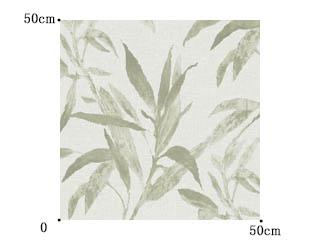 【ナチュラル ビンテージ】ボタニカル柄のリネン100%のレースカーテン【UX-8223】グリーン