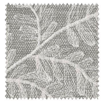 【北欧ナチュラル】葉の刺繍のドレープカーテン&シェード【UX-8239】グレー