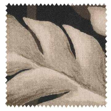 【ナチュラル・ビンテージ】ボタニカル柄のビンテージ・プリントのドレープカーテン【UX-8240】ダークブラウン