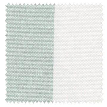 【北欧モダン】シンプルなストライプのドレープカーテン【UX-8269】ブルーグリーン&アイボリー