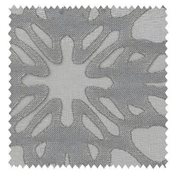 【イタリアン モダン】オパールプリントのダマスク柄のレースカーテン【UX-8596】グレー