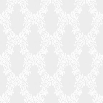 【クラシック モダン】装飾格子柄のオパールプリントのレースカーテン&シェード【UX-8605】ホワイト