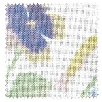【フレンチ カントリー】透水彩画の花柄プリントのレースカーテン【UX-8611】グリーン