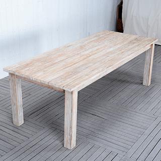 ォールドチーク【ホワイトパティーナ】ダイニングテーブル