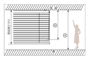 木製ブラインドの操作コード