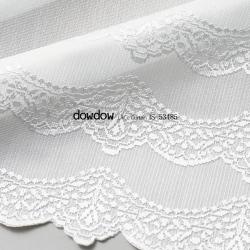 【フレンチ シック】フリンジ・デザインのレースカーテン【IS-53485】ナチュラルホワイト