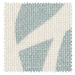 【北欧モダン】ボタニカル・プリントのドレープカーテン【LX-8112】アイボリー&ブルーグリーン