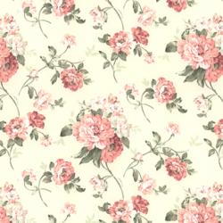 【アメリカン クラシック】サテン生地の花柄プリントのドレープカーテン【LX-8130】グリーン