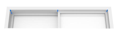 シェード【天井付け】の奥行き(D)の測り方