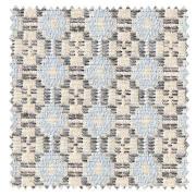 【北欧カントリー】北欧らしい花柄パターンの織柄のドレープカーテン【ES-2042】ブルー&グレー