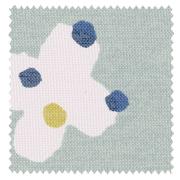 【北欧モダン】花のような蝶のプリントの遮光カーテン&シェード【ES-2046】アクアグリーン