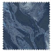 【ミッドセンチュリー】マーブル模様の織柄のドレープカーテン&シェード【HS-3003】ブルー