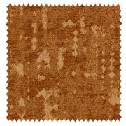 【ミッドセンチュリー】起毛と光沢の幾何学柄のドレープカーテン&シェード【HS-3026】オレンジブラウン