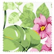 【イタリアン モダン】高級リゾートホテルの花柄のドレープカーテン&シェード【HS-3122】グリーン&ピンク