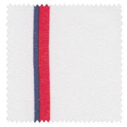【ミッドセンチュリー】透け感が美しいオーガンジーのチェックのレースカーテン&シェード【RX-9152】ホワイト