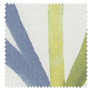 【北欧モダン】カラフルなリーフ柄の遮光カーテン【RX-9228】グリーン&アイボリー