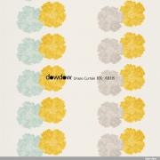 【北欧モダン】花のデザイン・プリントの遮光カーテン&シェード【RX-A919】ネイビー