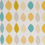 【北欧モダン】やさしい幾何学柄プリントの遮光カーテン&シェード【RX-A921】ブルー
