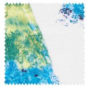 【北欧モダン】透明感が美しい幾何学プリントのドレープカーテン&シェード【SC-2050】ブルー