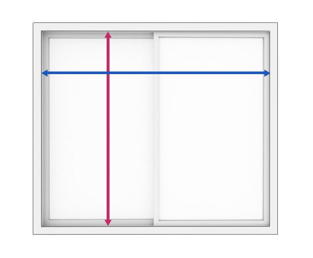 窓枠内のサイズの測り方