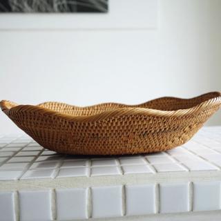 アタトレイwave 手編み 菓子鉢 小物入れ