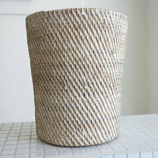 ラタンボックスWW ゴミ箱 手編み 鉢カバー