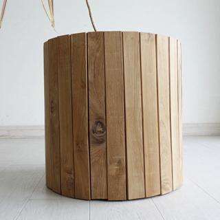 チーク総無垢材 大型鉢カバーI40